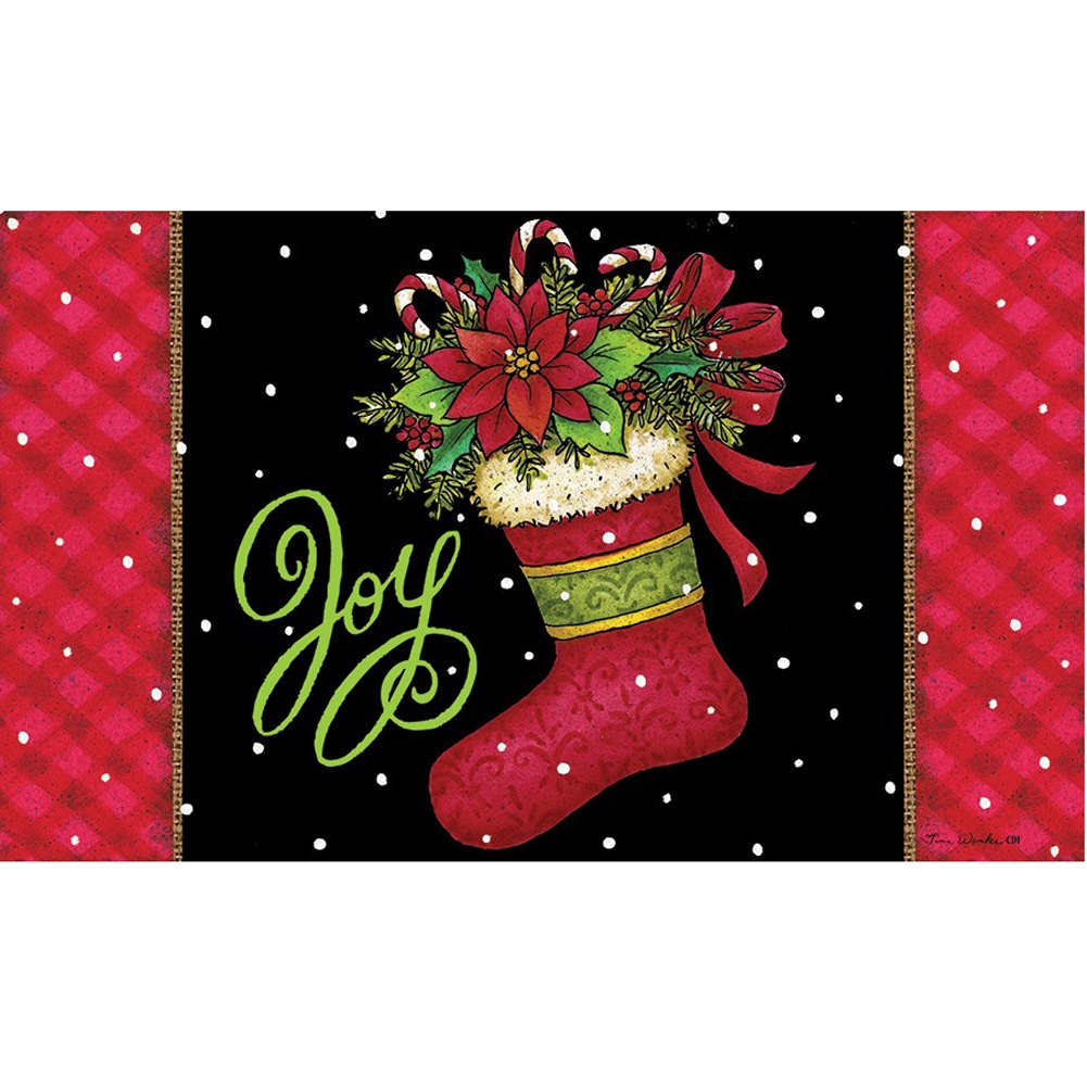 Joy Stocking Doormat