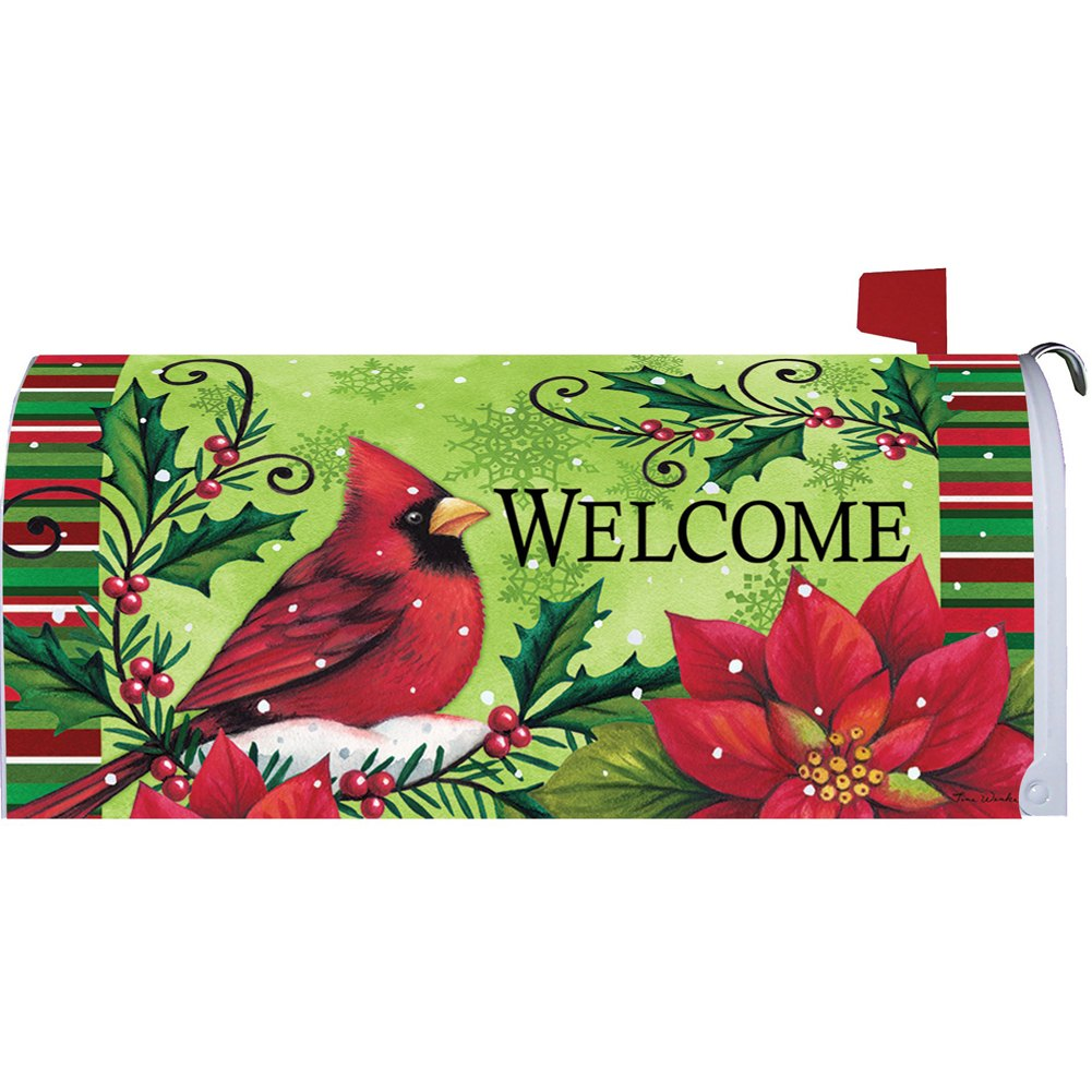 Welcome Cardinal Mailbox Cover