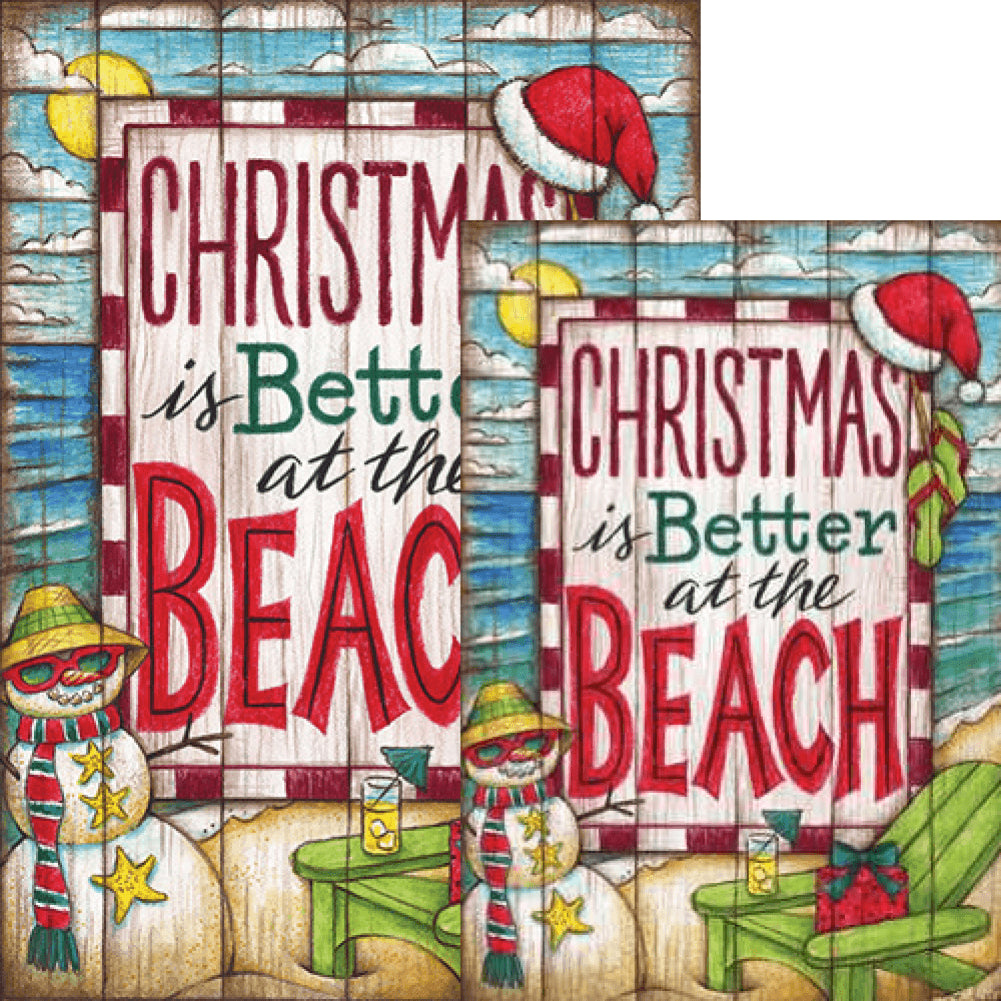 Christmas at the Beach Double Sided Flags Set (2 Pieces)