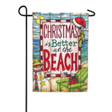 Christmas at the Beach Double Sided Flag