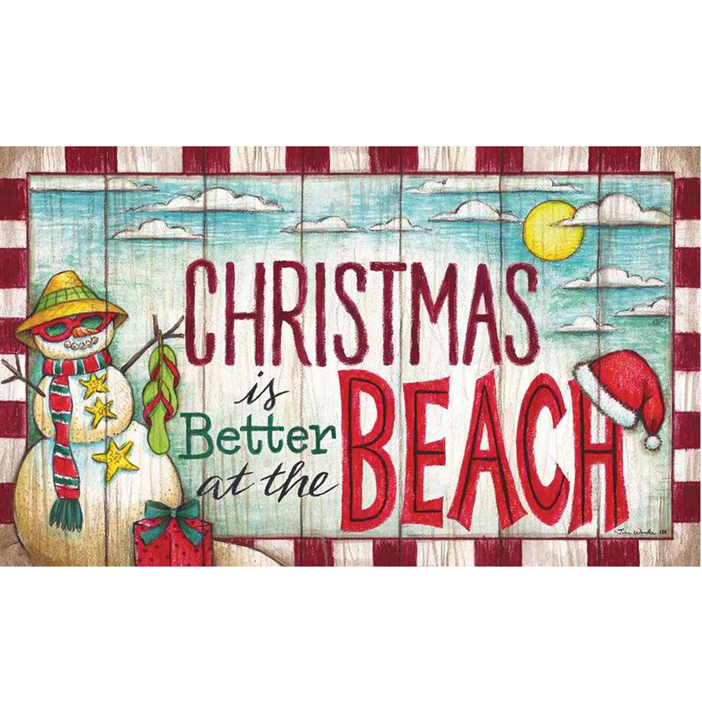 Christmas at the Beach Doormat
