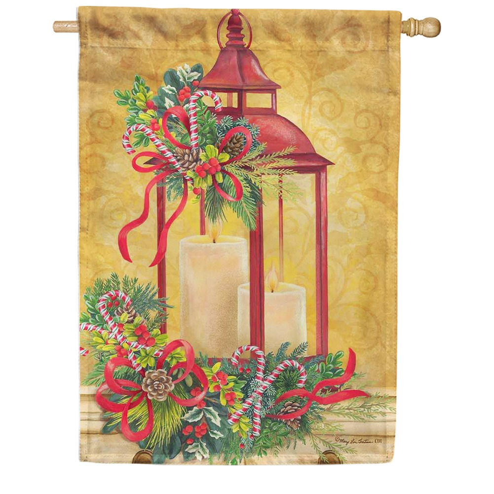 Christmas Lantern Candy Cane House Flag