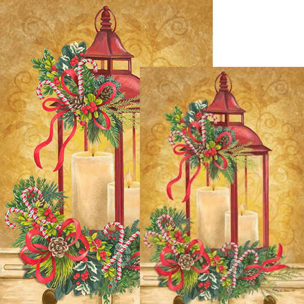 Christmas Lantern Candy Cane Flags Set (2 Pieces)