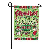 Grandkids Spoiled Christmas Double Sided Flag