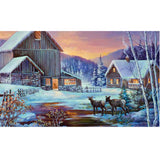 Winter Cabin Doormat