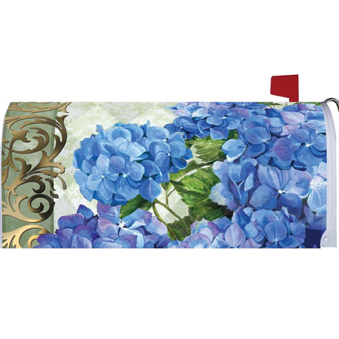 Blue Hydrangeas Mailbox Cover