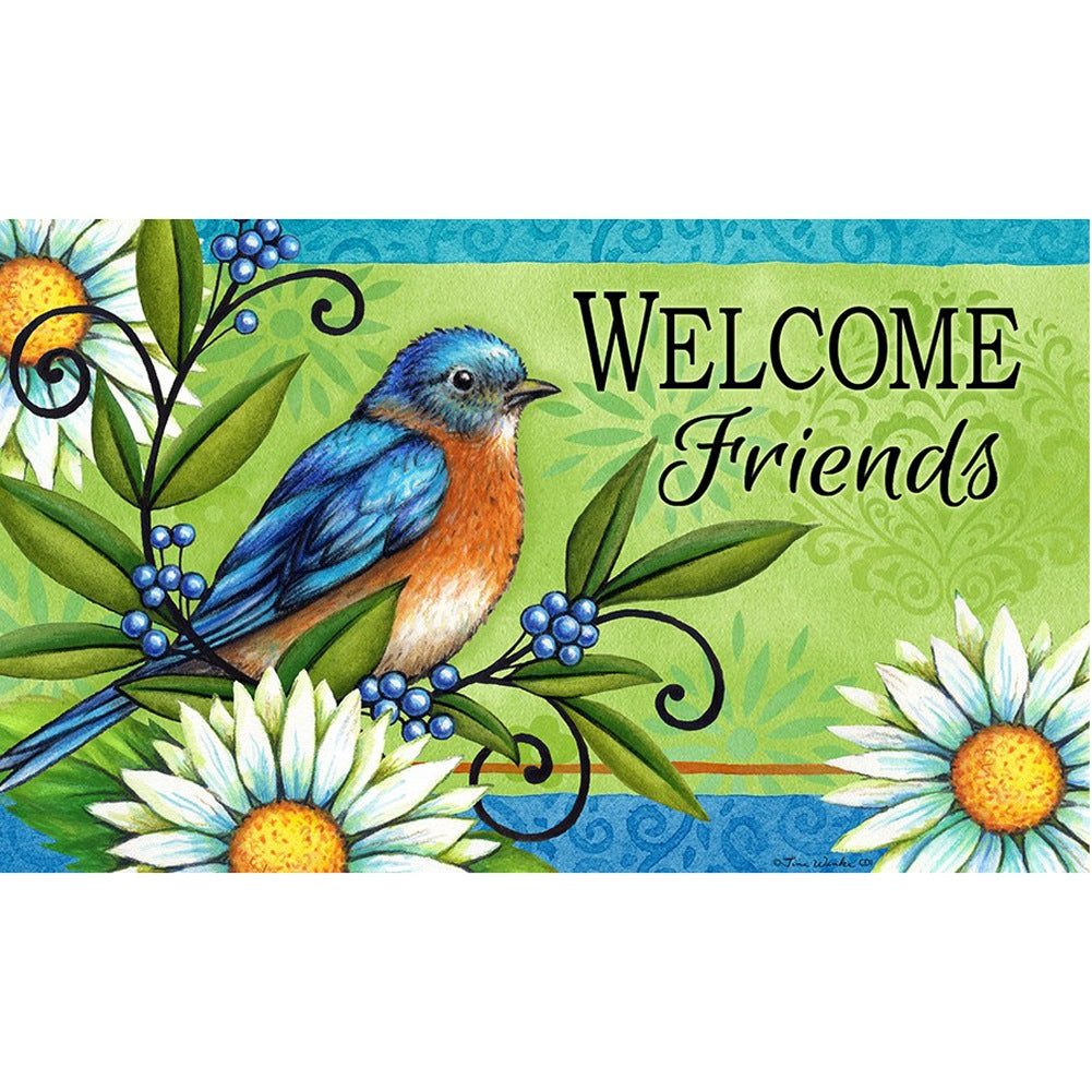 Welcome Bluebird Doormat