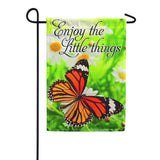 Monarch Daisies Double Sided Garden Flag