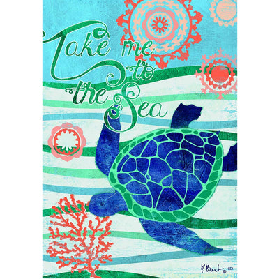 Take Me To The Sea Double Sided House Flag