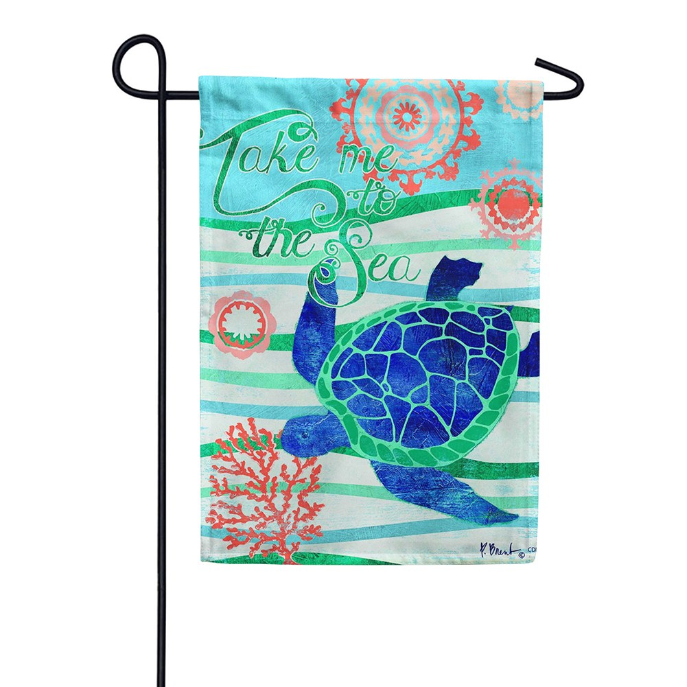 Take Me To The Sea Double Sided Garden Flag