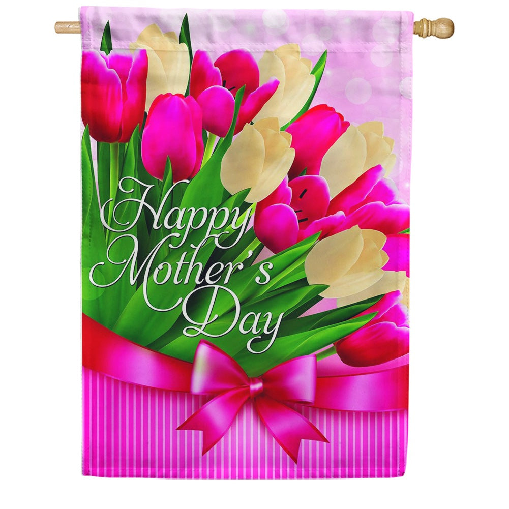 Tulips For Mom House Flag