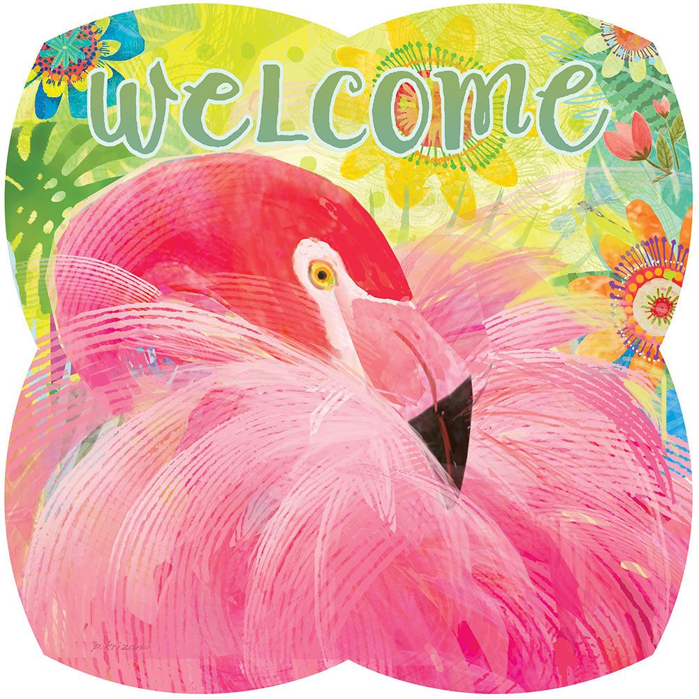 Flamingo Floral PVC Hang Around