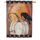 Pumpkin Crow Fall House Flag