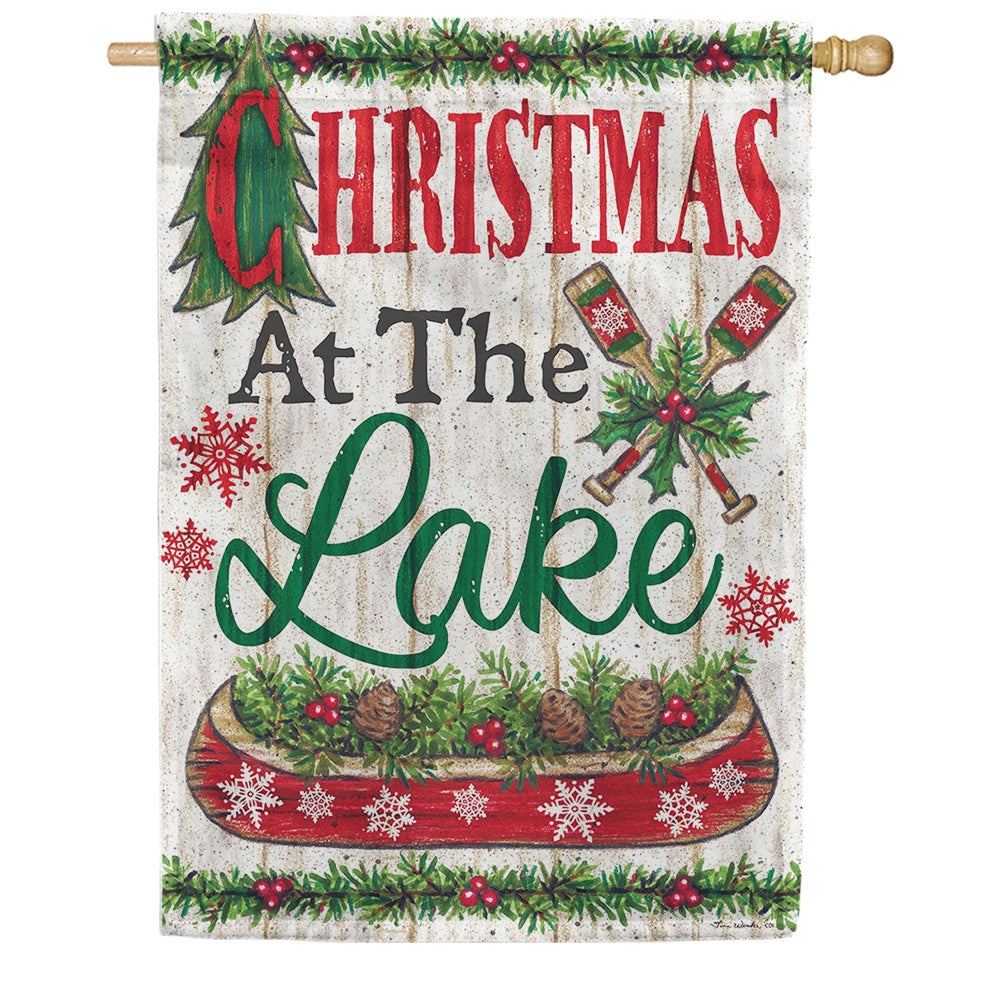 Lake Christmas Double Sided House Flag