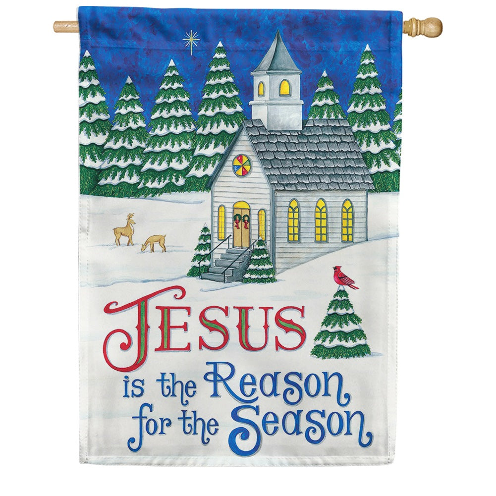 Country Church Double Sided House Flag