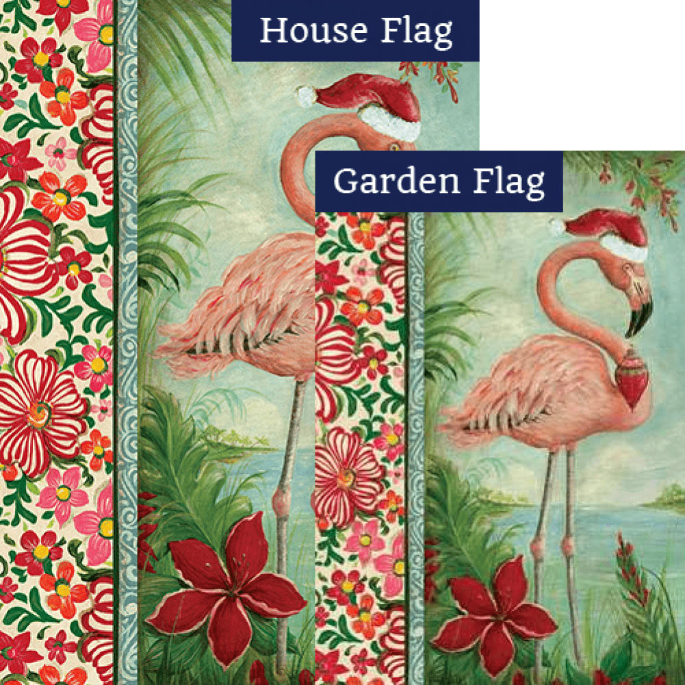 Holiday Flamingo Flags Set (2 Pieces)