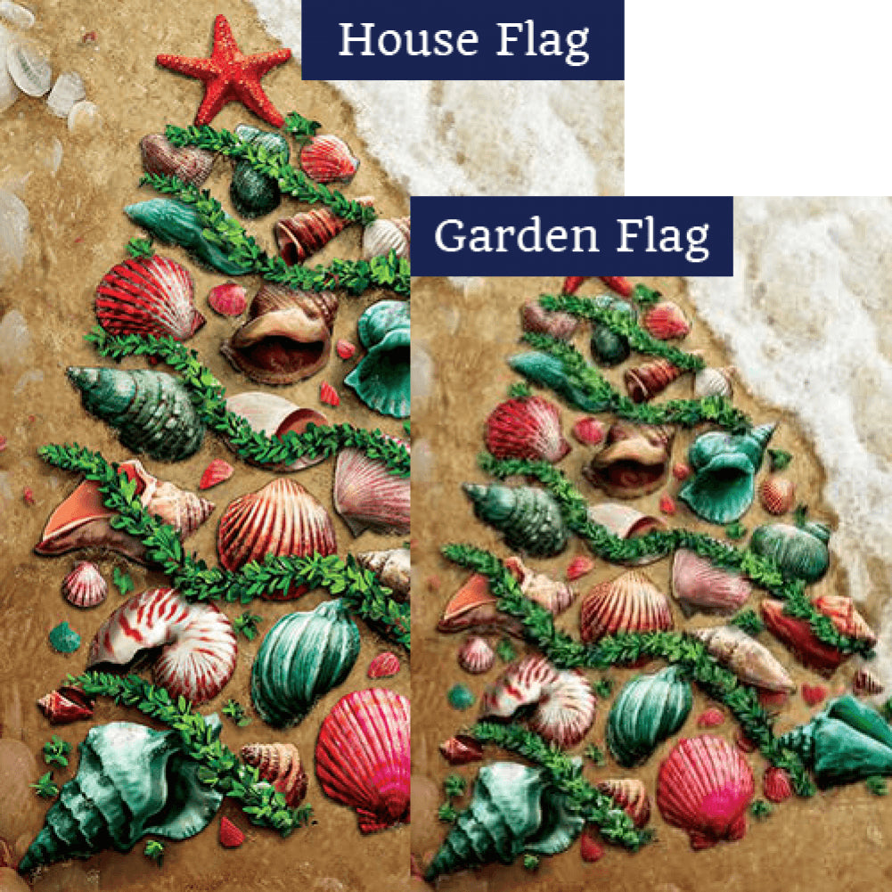 Seashell Tree Double Sided Flags Set (2 Pieces)