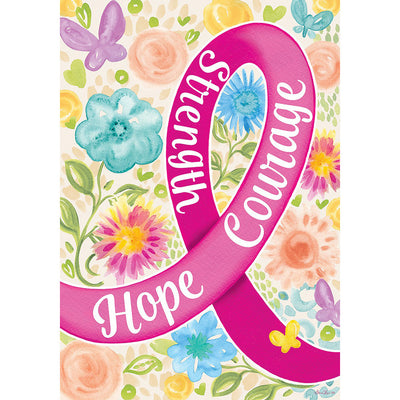 Hope Courage Strength Double Sided House Flag