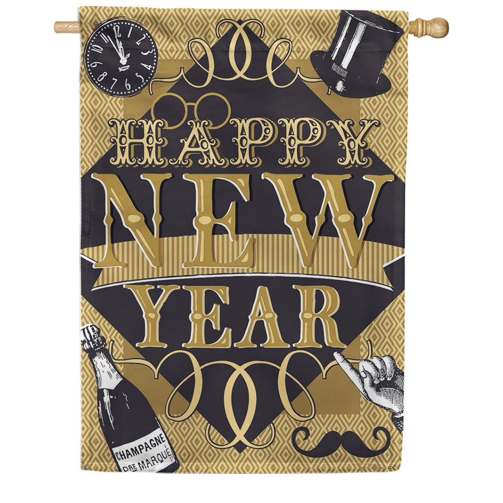 Happy New Year Double Sided House Flag