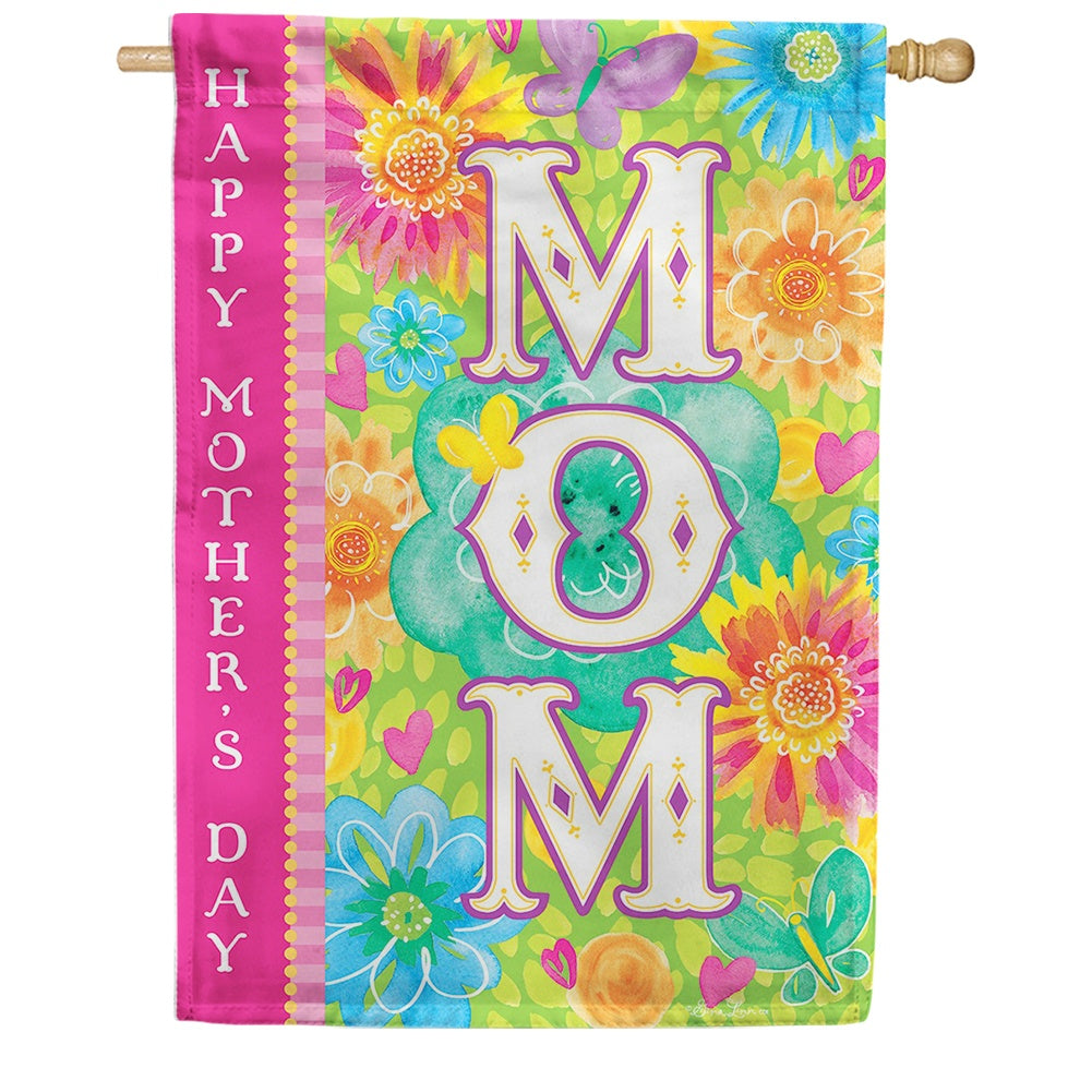Mom's Day Double Sided House Flag