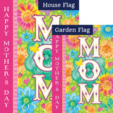 Mom's Day Double Sided Flags Set (2 Pieces)