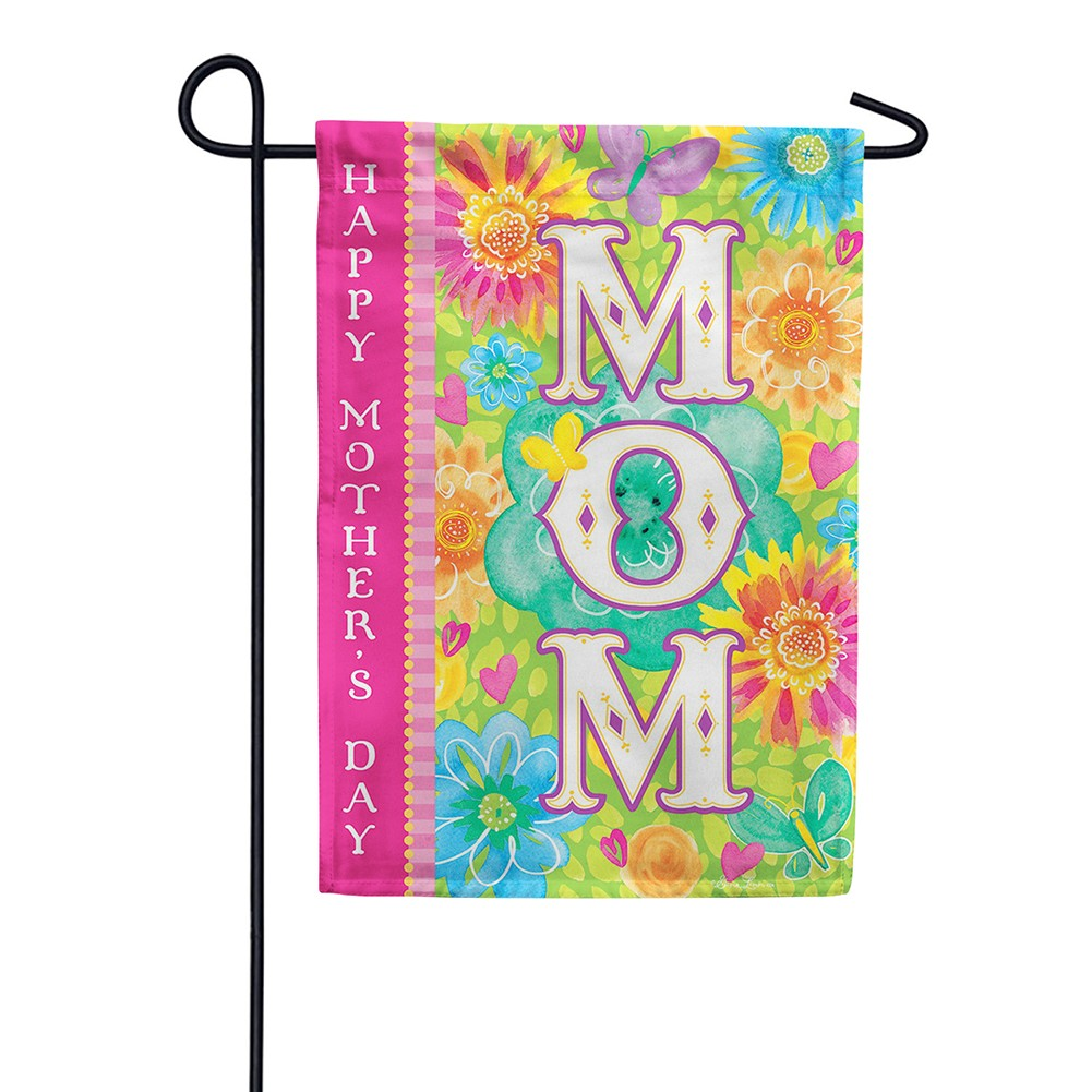 Mom's Day Double Sided Garden Flag