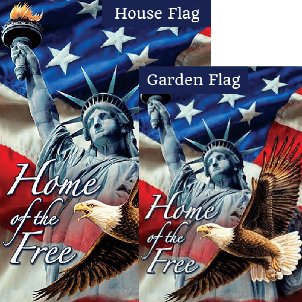 Home of the Free Double Sided Flags Set (2 Pieces)