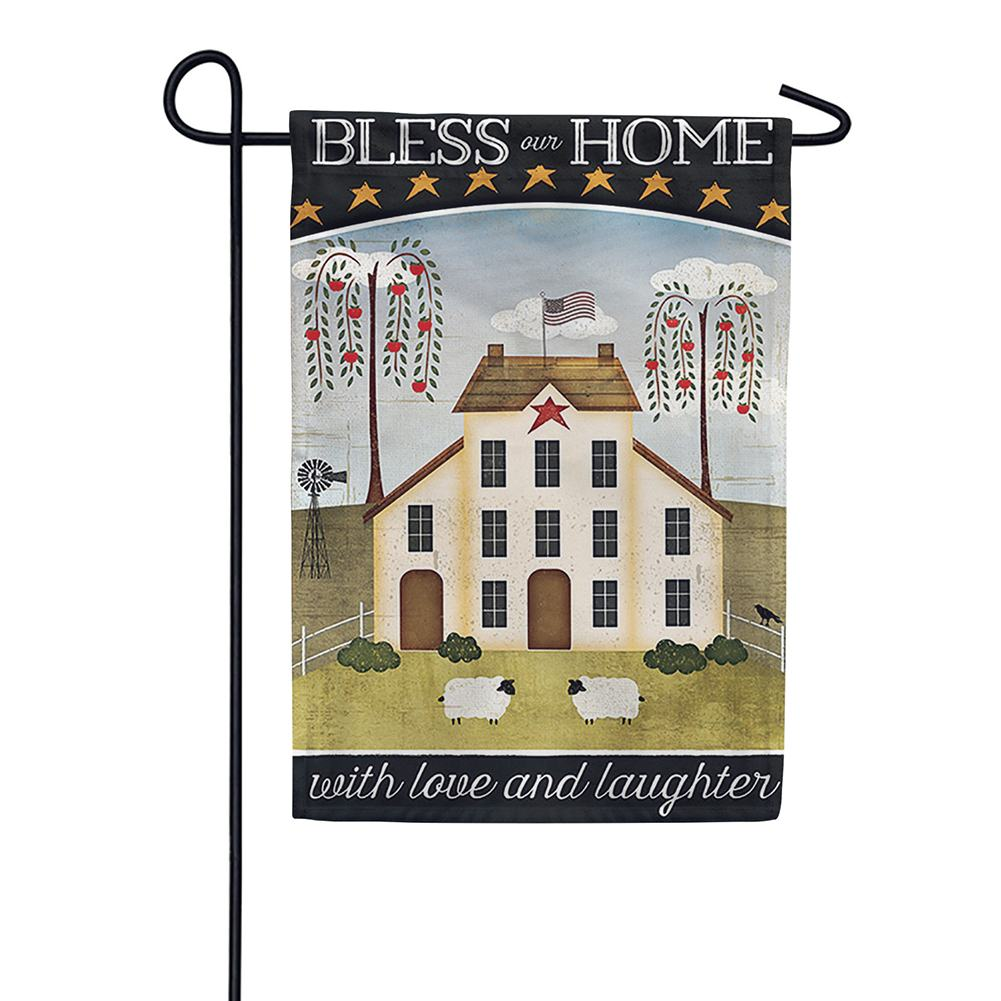 Primitive House Double Sided Garden Flag