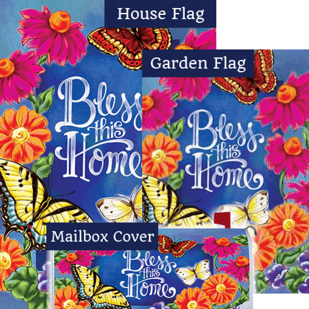 Bless This Home Flowers Double Sided Yard Makeover Set (3 Pieces)
