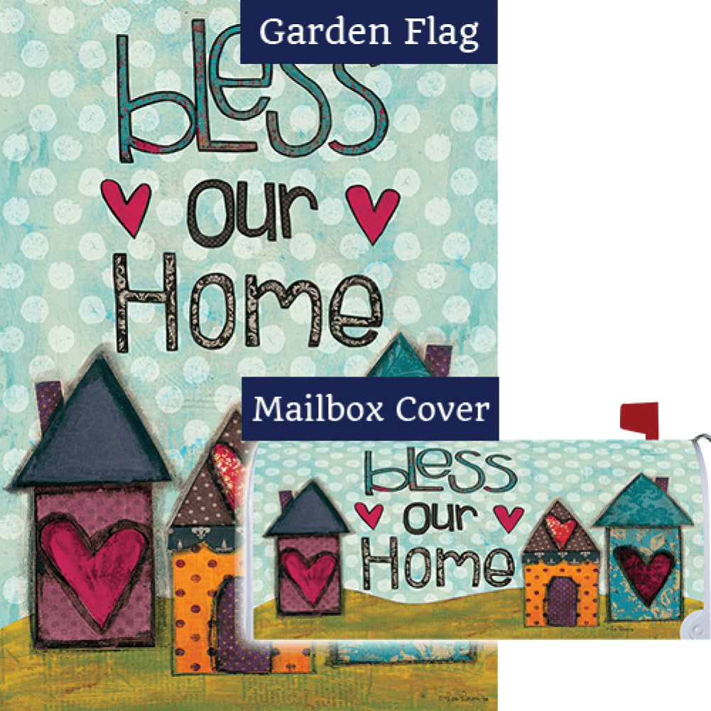 Bless Our Home Hearts Double Sided Flag Mailwrap Set (2 Pieces)