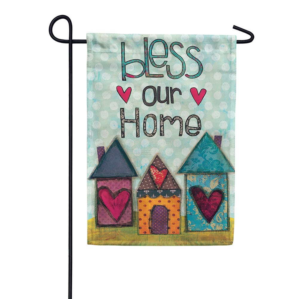 Bless Our Home Hearts Double Sided Garden Flag