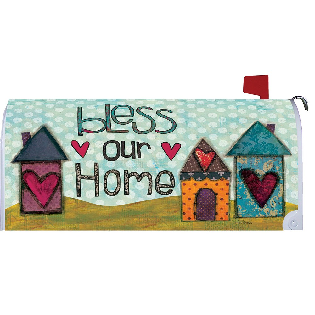 Bless Our Home Hearts Mailbox Cover