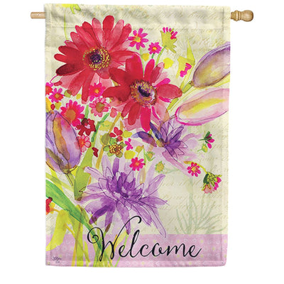 Summer Bouquet Double Sided House Flag