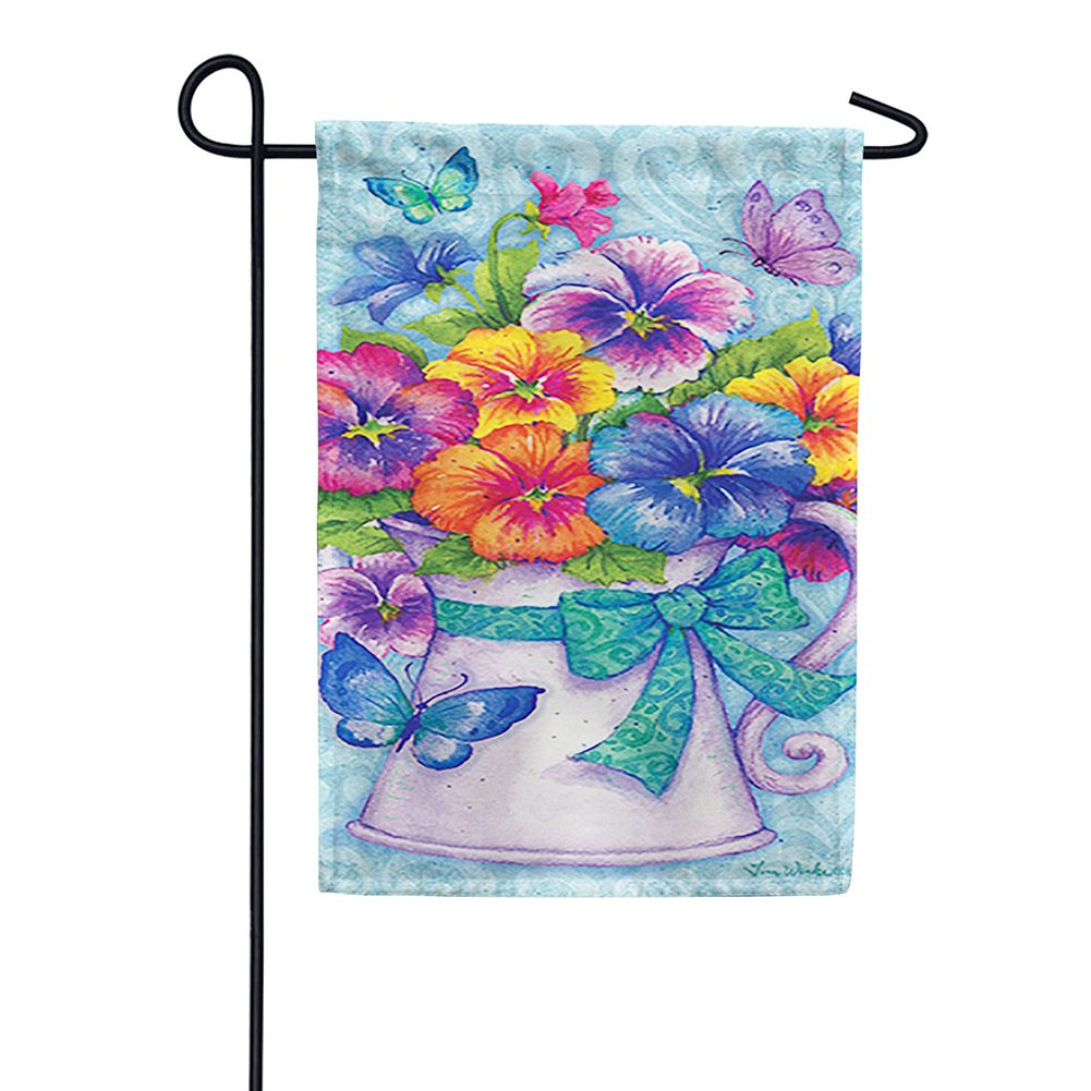 Pansy Pitcher Garden Flag
