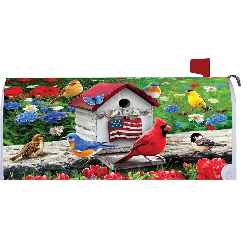 Cardinals & Bluebirds Mailbox Cover