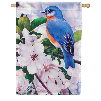 Captivating Bluebird House Flag