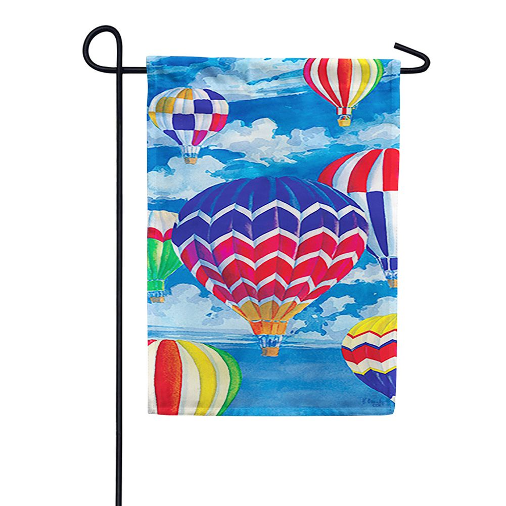 Balloon Fest Garden Flag