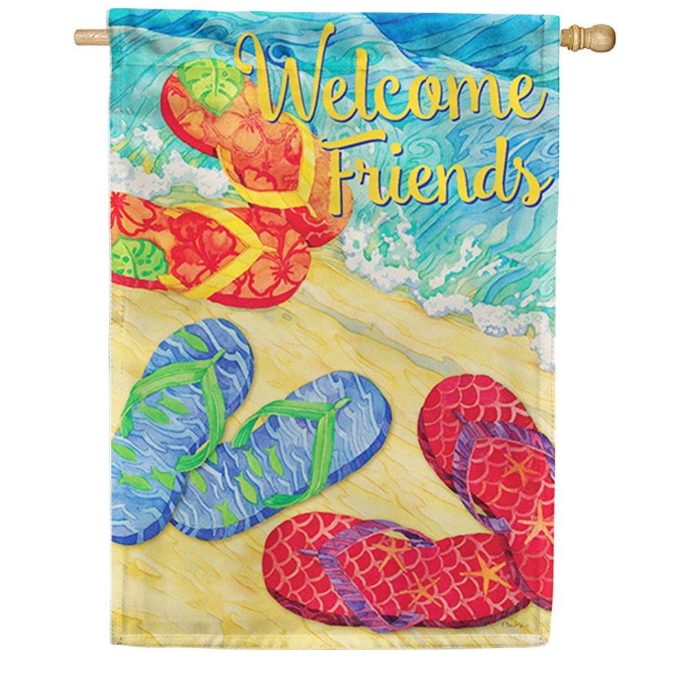 Welcome Flops Double Sided House Flag