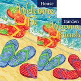 Welcome Flops Double Sided Flags Set (2 Pieces)