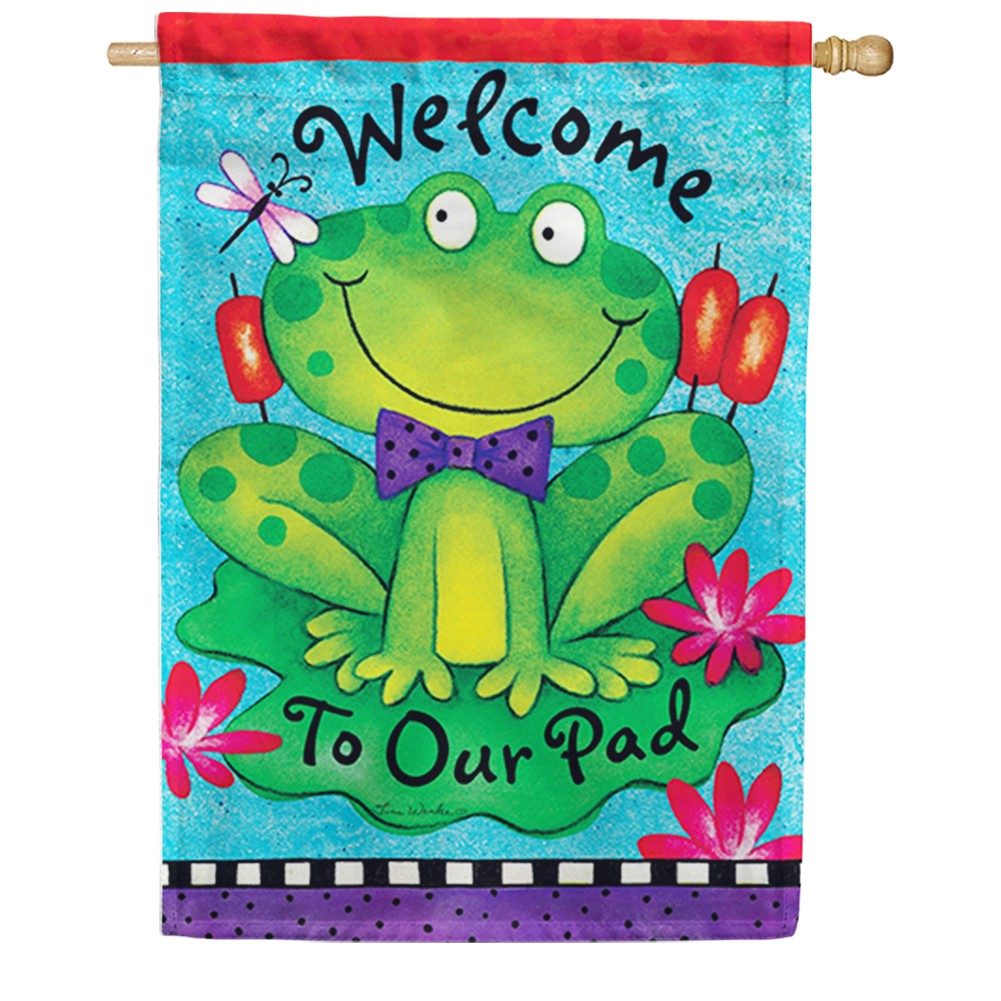 Fancy Frog Double Sided House Flag