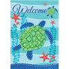 Sea Turtle Welcome Double Sided House Flag