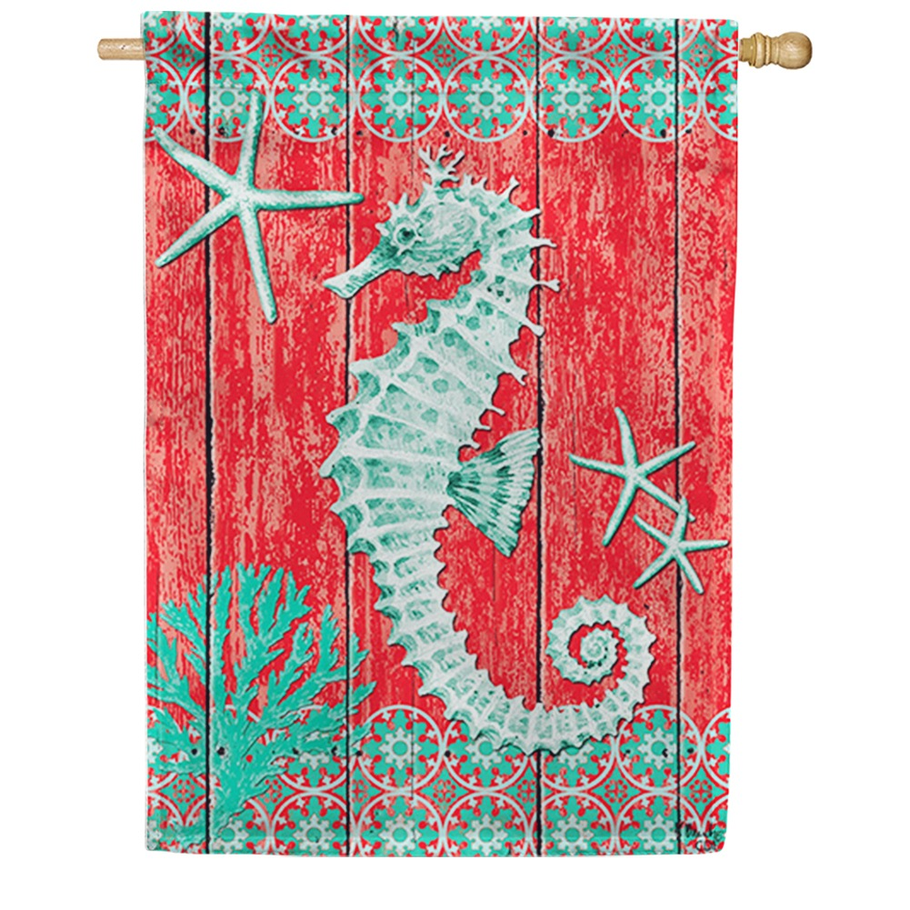 Seahorse and Starfish House Flag