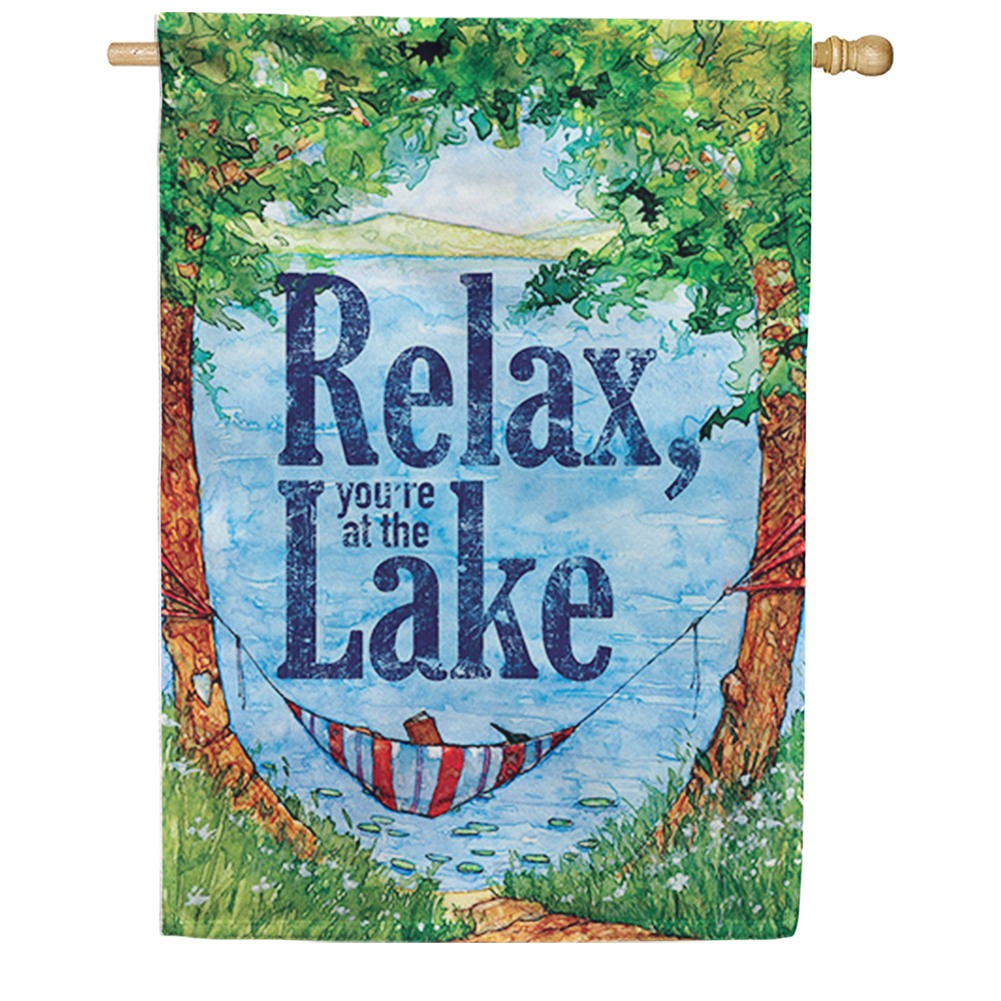 Relax at the Lake Double Sided House Flag