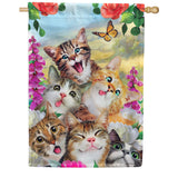 Cat Selfie Double Sided House Flag
