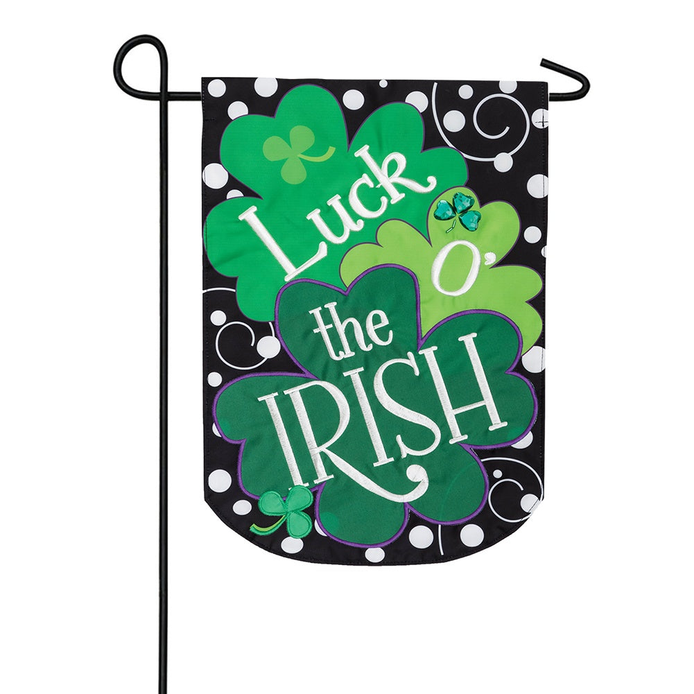 Luck of the Irish Appliqued Garden Flag
