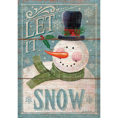 Let it Snowman Double Sided House Flag
