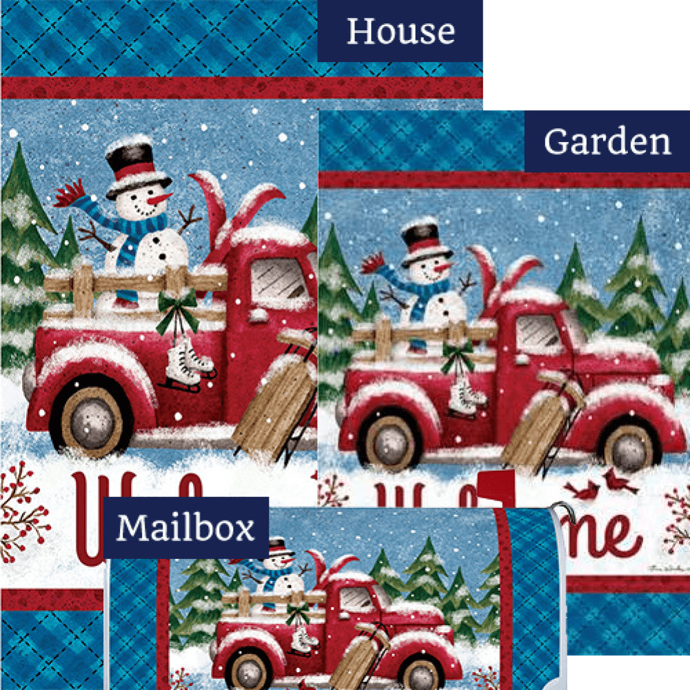 Winter Truck Double Sided Yard Makeover Set (3 Pieces)