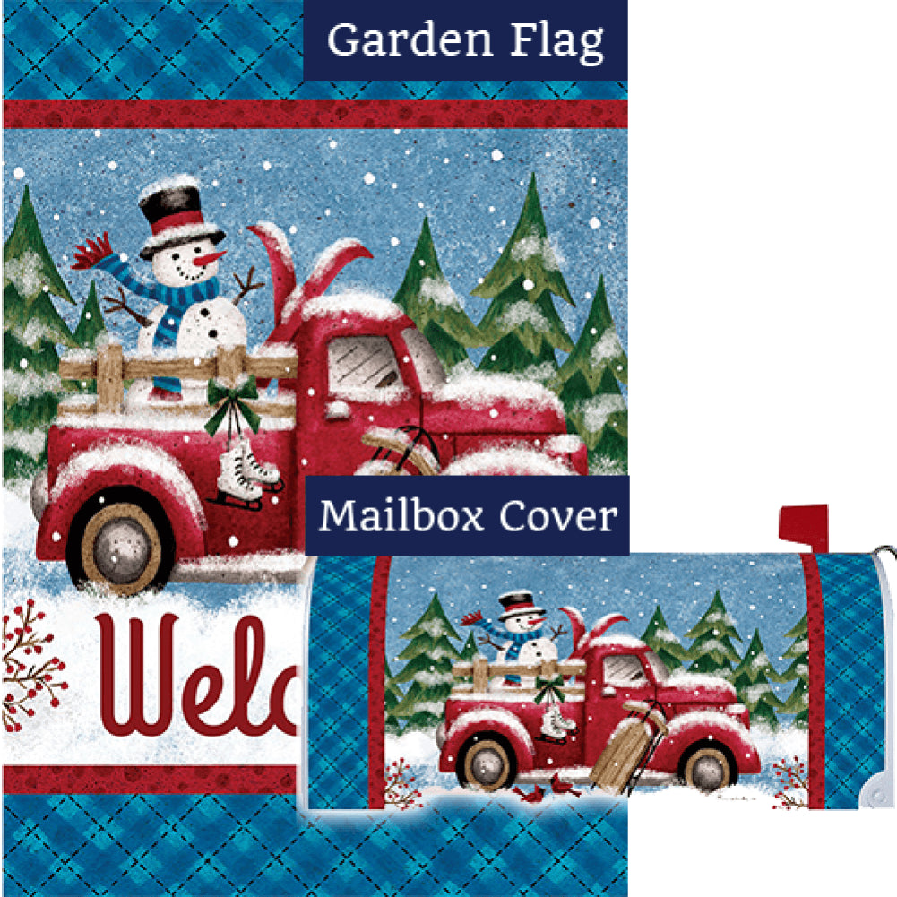 Winter Truck Double Sided Flag Mailwrap Set (2 Pieces)