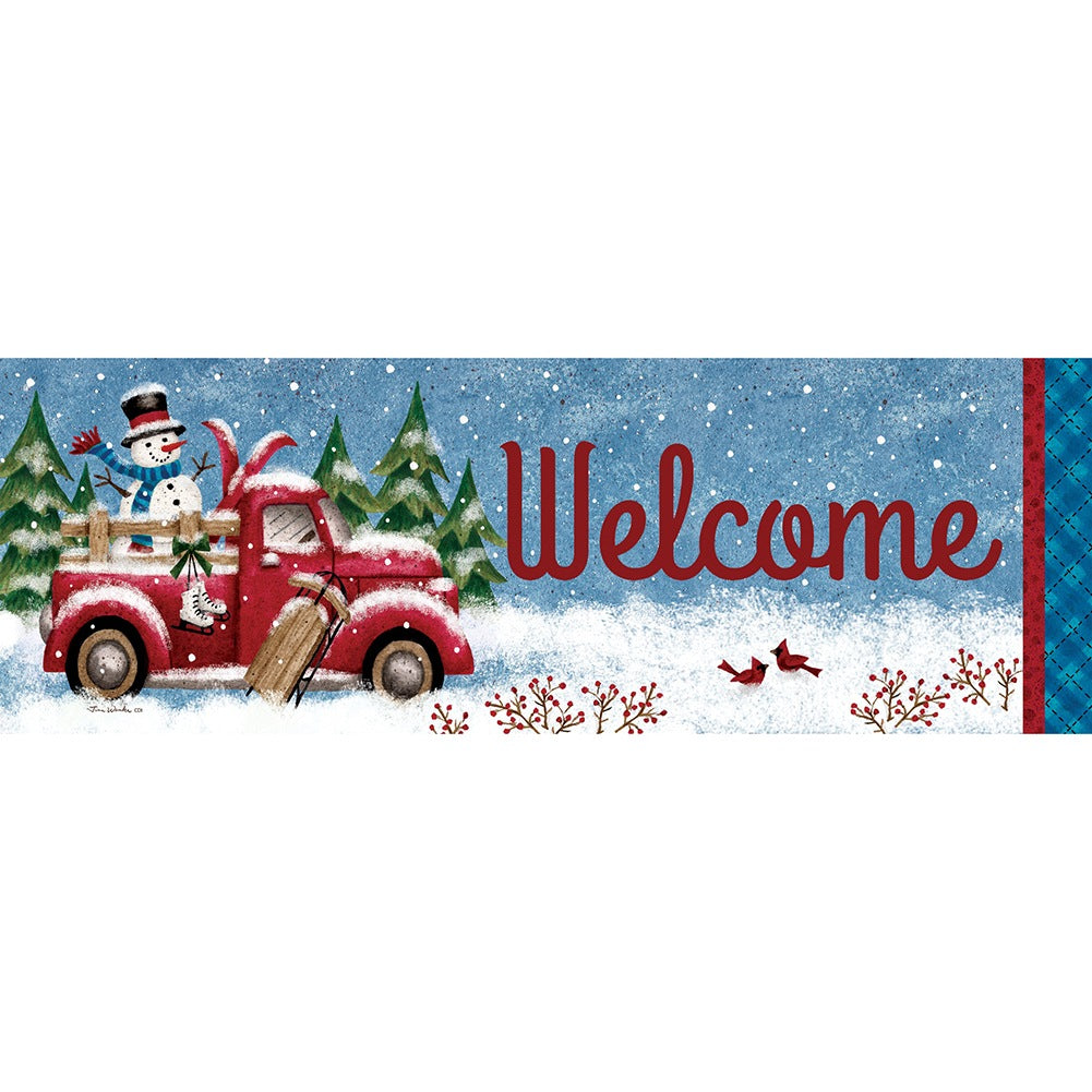 Winter Truck Signature Sign