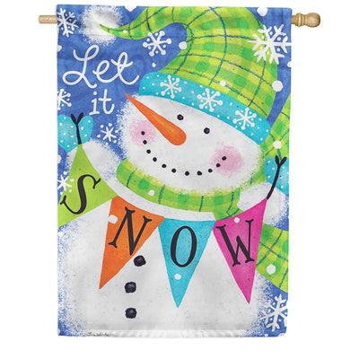 Snow Banner Double Sided House Flag